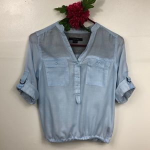 paper tee BABY BLUE SOFT COTTON TOP SIZE SMALL